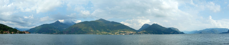 Lake Como (Italy) summer panorama. Stock Photos
