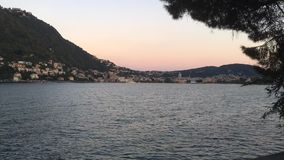 Lake Como Italy Sunset Timelapse stock video footage