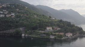 Lake Como Italy top view. Villa Desta stock video