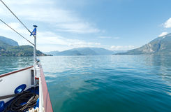 Lake Como (Italy) view from ship Royalty Free Stock Images
