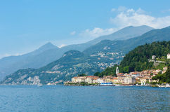 Lake Como (Italy) view from ship Stock Images