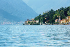 Lake Como (Italy) view from ship Royalty Free Stock Photo