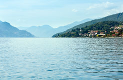 Lake Como (Italy) view from ship Stock Photo