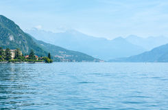 Lake Como (Italy) view from ship Royalty Free Stock Photography