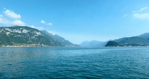 Lake Como (Italy) view from ship Royalty Free Stock Image