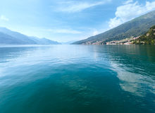 Lake Como (Italy) view from ship Stock Photos