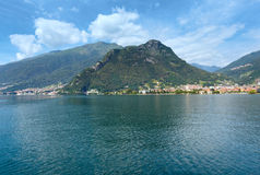 Lake Como (Italy) view from ship Stock Image