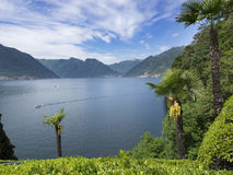 Lake Como, Italy. A view of Lake Como from the town of Lenno Royalty Free Stock Photo