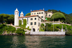 Lake Como, Italy. The Villa del Balbianello on Lake Como, Italy stock photos
