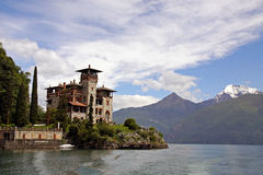 Lake Como, Italy and Villa La Gaeta Royalty Free Stock Photo