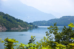 Lake Como. Landscape view from Colico , town on the lake Como, Italy royalty free stock image