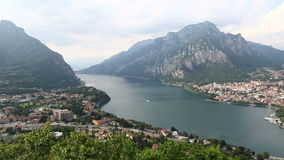 Lake Como and Lecco city, Italy stock video