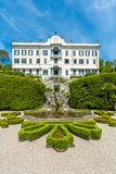 Lake Como, Lombardy, Italy, 11 May 2012. Villa Carlotta Tremezzo on lake Como Italy. Lake Como, Lombardy, Italy, 11 May 2012. Facade of Villa Carlotta at stock image