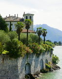 Lake Como Mansion. A typical Reanaissance-style mansion on Lake Como, Italy, near the town of Domaso royalty free stock photos