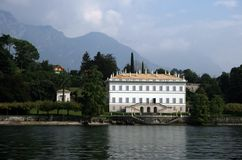 Lake Como Mansion Stock Image