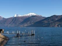 Lake of Como - Menaggio. Italy - Lake Como, Pianello del Lario view of the lake and the town stock photo