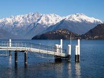 Lake of Como - Menaggio. Italy - Lake Como, Pianello del Lario view of the lake and the town stock images