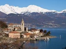 Lake of Como - Menaggio. Italy - Lake Como, Pianello del Lario view of the lake and the town stock image