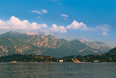 Lake Como mountain view Stock Photos