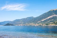 Lake Como and mountains stock photo