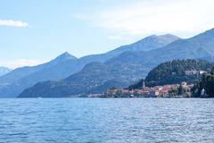Lake Como and mountains royalty free stock images