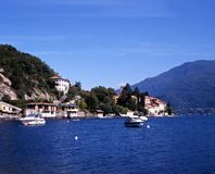 Lake Como, Ner Rezzonico, Italy. View of Lake Como and mountains, Near Rezzonico, Lombardy, Italy, Europe Stock Image