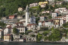 Lake of Como at Nesso Royalty Free Stock Images