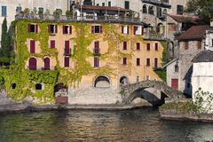 Lake of Como at Nesso Royalty Free Stock Image