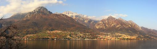 Lake Como panoramic view. Royalty Free Stock Photos