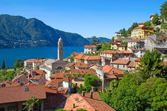 Lake Como. Panoramic view of Cernobbio town (Como lake, Italy Stock Images