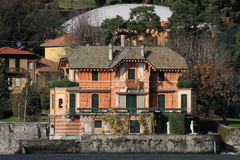 Lake Como resort house Stock Images
