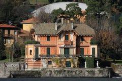 Lake Como resort house Stock Images