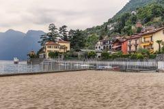 Lake of Como at Sala Comacina. Beautiful villages on the Lago di Como: Sala Comacina in the north of Italy Stock Image