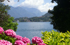 Lake Como. On the shore of Lake Como in Italy royalty free stock photo