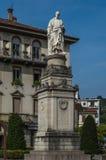 Lake Como 3. Statue of Volta in Lake Como Italy Stock Photo