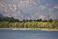 Lake Como in a Summer Day Stock Photos