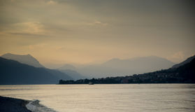 Lake como sunset Royalty Free Stock Photos