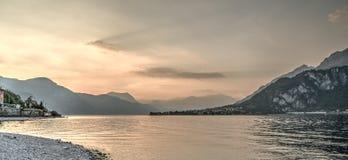 Lake como sunset Royalty Free Stock Photos