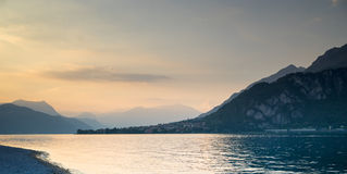 Lake como sunset Stock Image