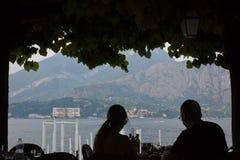 Lake Como Tourist Season Royalty Free Stock Photography
