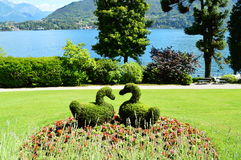 Lake como tremezzo villa carlotta Stock Photos