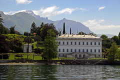 Lake Como with Treviso mountains Royalty Free Stock Photos