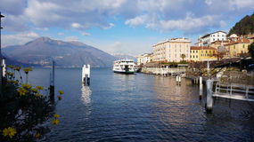 Lake Como in Varenna, Italy Stock Images
