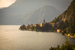 Lake Como - Varenna at sunset Stock Photo