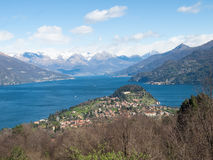 Lake of Como and view of Bellagio Royalty Free Stock Image