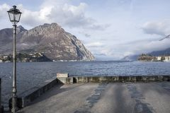 Lake Como view from city of Lecco, Italy.  Stock Image