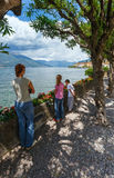 Summer Lake Como view (Italy) and family Royalty Free Stock Photography