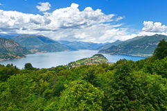 Lake Como view (Italy) Stock Photo