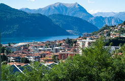 Lake Como View. A view of Lake Como from the little Italian town of Abbadia Lariana stock photo