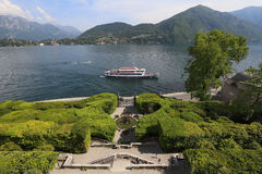 Lake Como viewed from Villa Carlotta Stock Photography